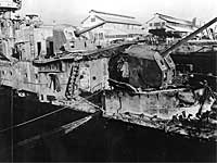 USS Downes wreck after Pearl Harbor attack