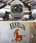 """Glassed"" nose on B-26 Invader and nose art ""Ahaulin"""