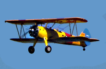 N2S Stearman flyby during Parade of Fight during Centennial of Naval Aviation. San Diego, CA