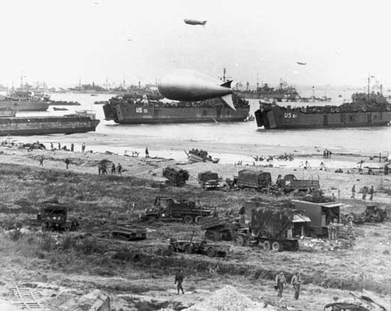 Beachhead begin supplied on June 1944