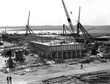 Mulberry harbor construction
