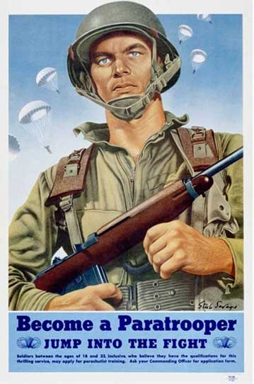 Poster - US Army Paratrooper, WWII