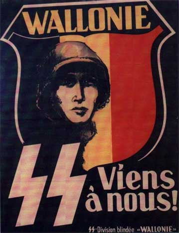 German recruitment poster for Wallonia area of Belguium.