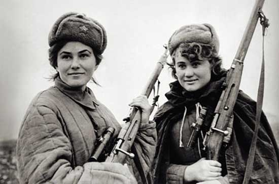 Mosin-Nagant Russian rifle carried by partisans